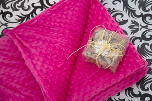 Hot Pink Fuschia Weighted Bamboo Blanket with Minky Cover 7kg - Changing Seasons