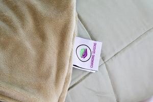 Green Weighted Bamboo Blanket with Minky Cover 5kg - Changing Seasons