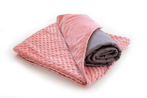 Pink Weighted Blanket Bamboo with Minky Cover 2.3kg - Changing Seasons
