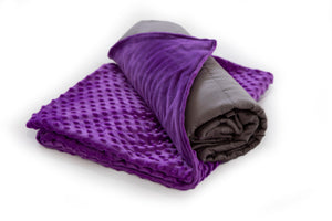 Purple Weighted Bamboo Blanket & Mink Cover 2.3kg - Changing Seasons