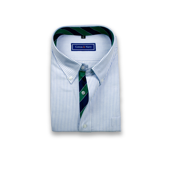 The Fitzgerald Sport Shirt by Cotton and Navy