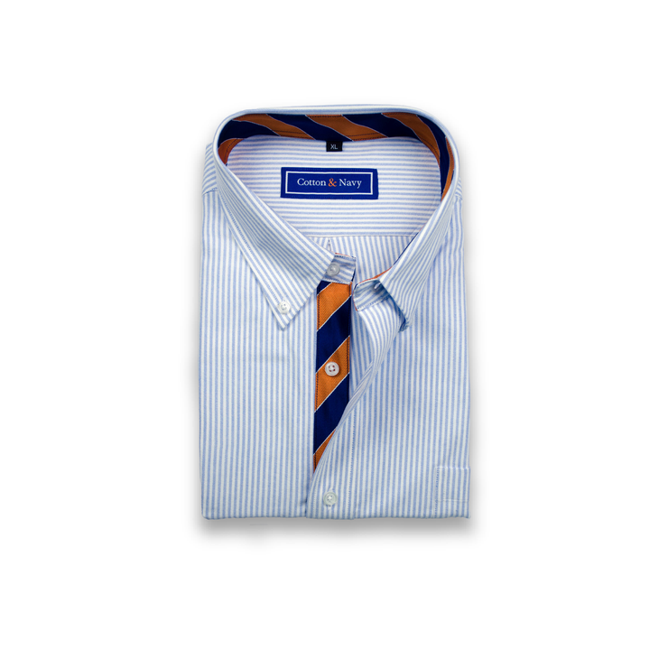 Custom Cotton & Navy Sport Shirt