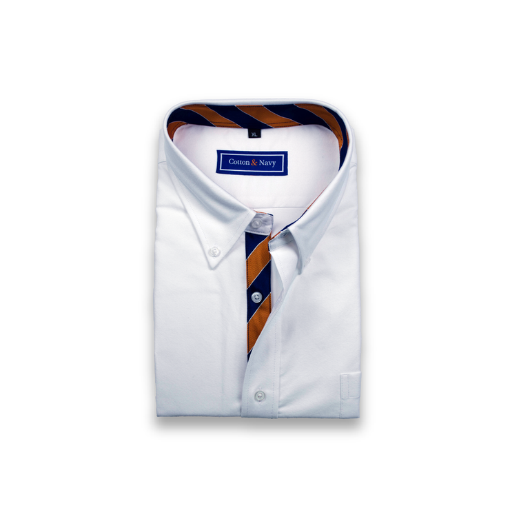 The Rivalry Sport Shirt by Cotton and Navy