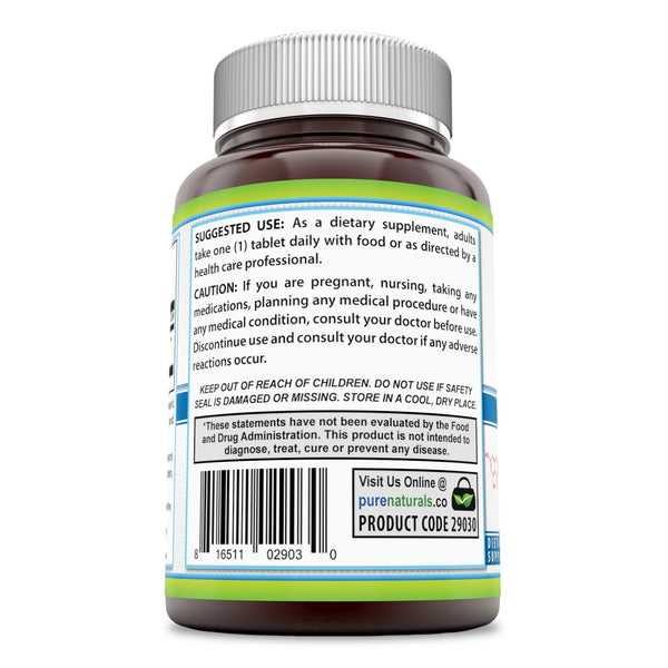 Pure Naturals Rutin 500 Mg Tablets (Non-GMO)- Helps Neutralize Free Radicals* Supports Vascular Health* Aids in Absorption of Vitamin C* (200 Count)