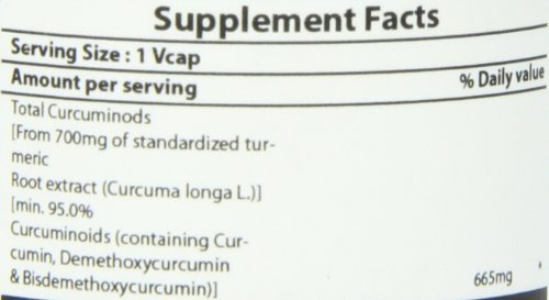 Pure Naturals High Potency Curcumin Extract  700 mg, 60 Capsules