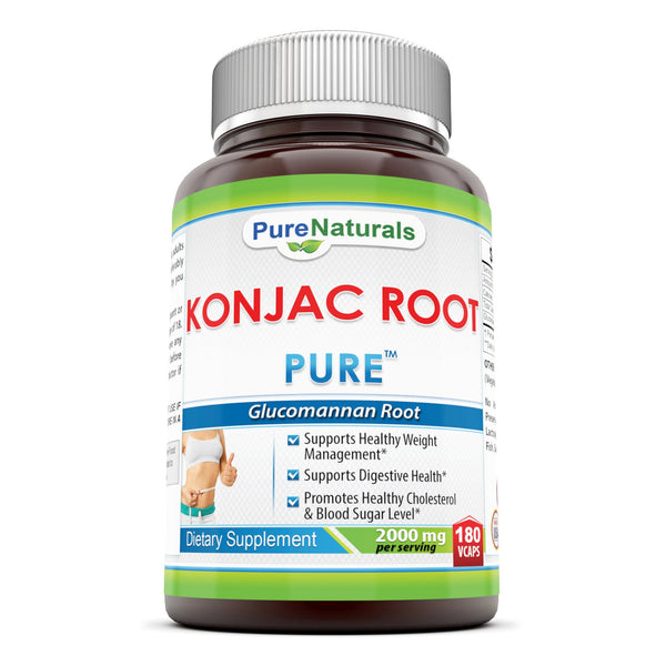 Pure Naturals Konjac Root Vegetable  2000 Mg, 180 Count
