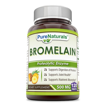 Pure Naturals Bromelain Dietary Supplement 500 mg 120 Enzyme Tablets