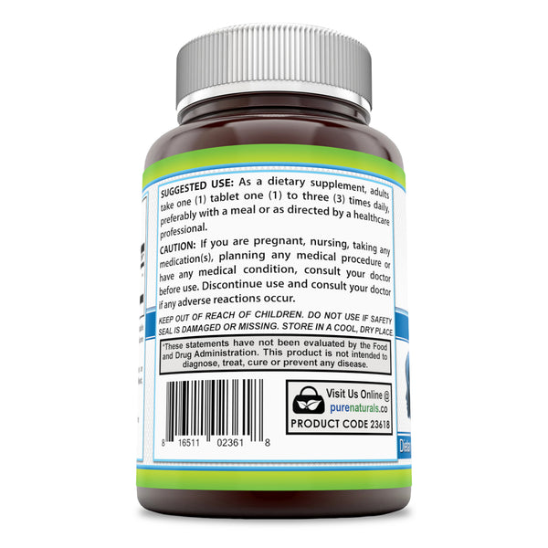 Pure Naturals Acetyl L-Carnitine 1000 Mg 120 Tablets