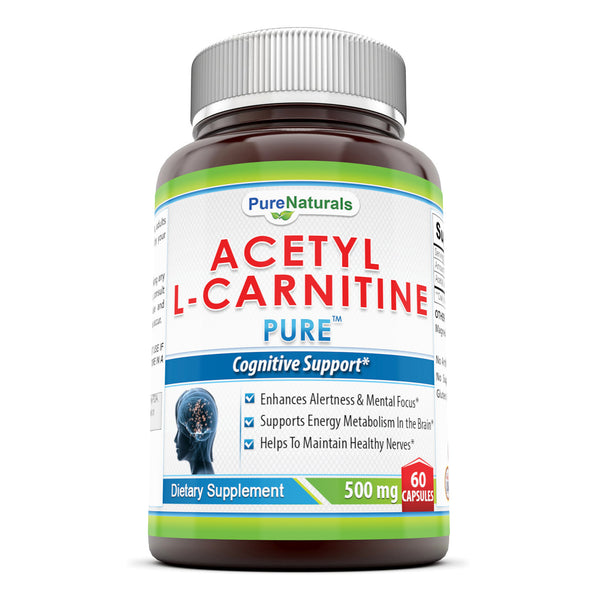 Pure Naturals Acetyl L-Carnitine 500 mg 60 Capsules