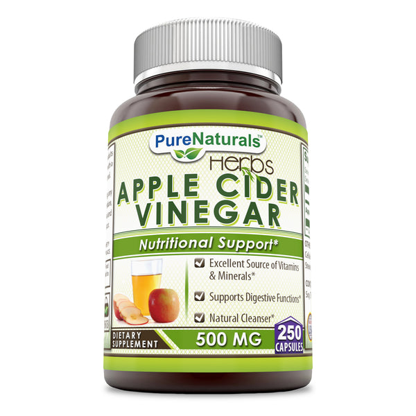Pure Naturals Apple Cider Vinegar 500 Mg 250 Capsules