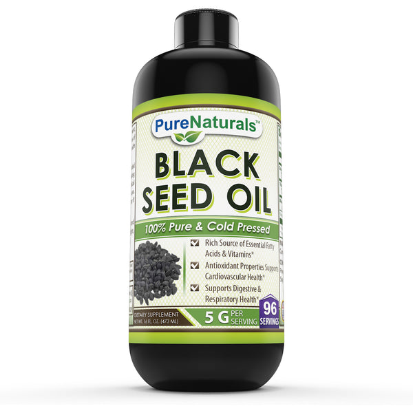 Pure Naturals Black Seed Oil 16 Fl Oz