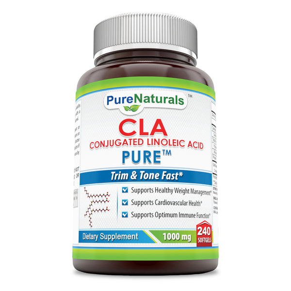 Pure Naturals CLA1000 Mg, 240 Count Supports Healthy Waight Loss,Supports Metabolism And Immune System