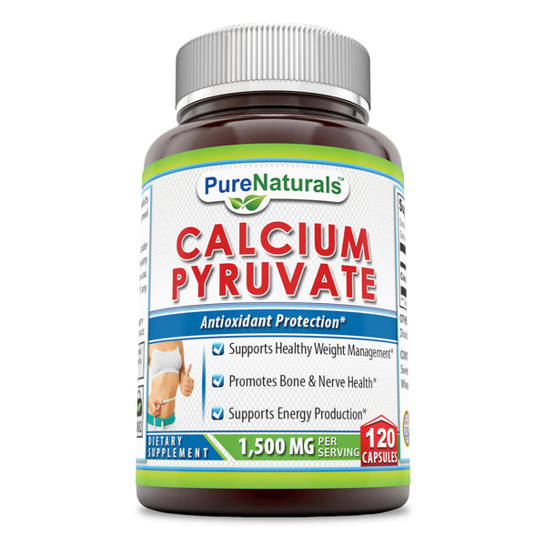 Pure Naturals Calcium Pyruvate 1500 Mg 120 Capsules