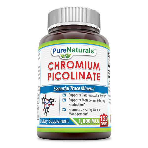 Pure Naturals Chromium Picolinate 1000 Mcg 120 Tablets