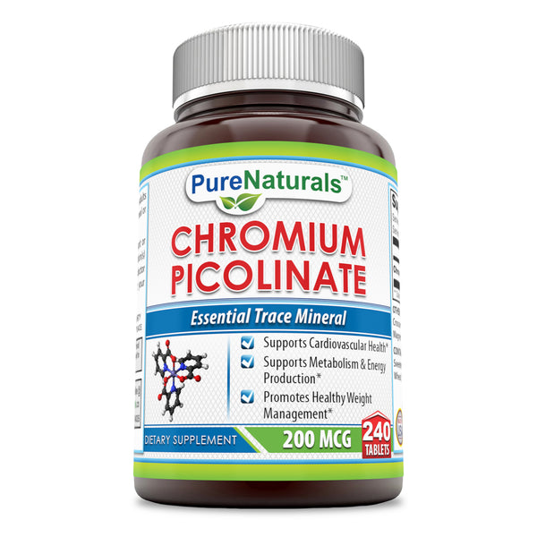 Pure Naturals Chromium Picolinate 200 Mcg 240 Tablets