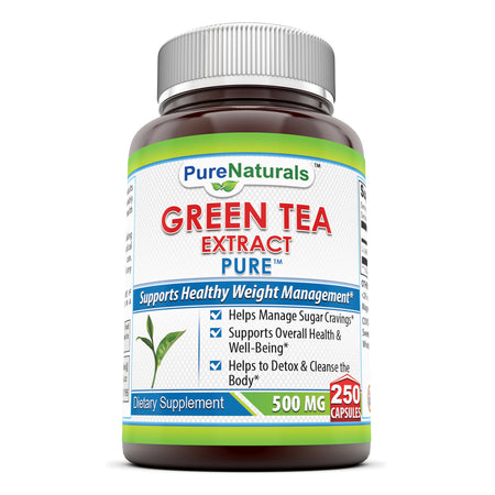 Pure Naturals Green Tea Extract 500 MG 250 Capsules
