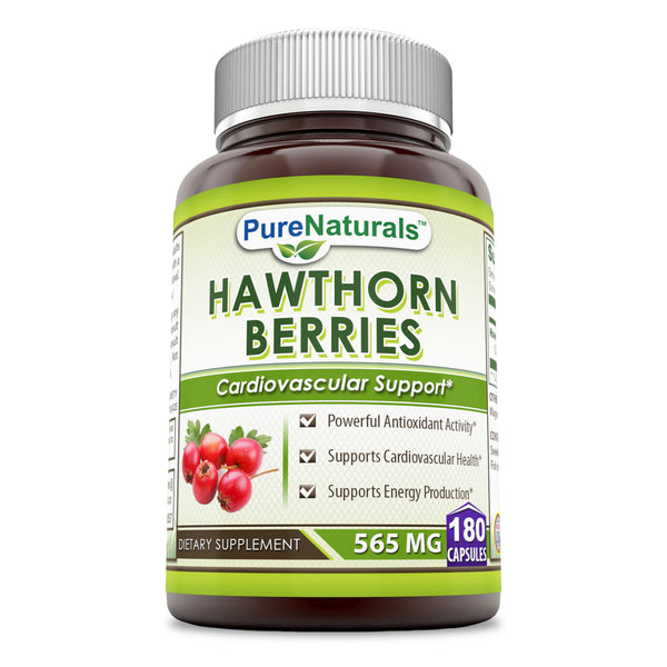 Pure Naturals Hawthorn Berries 565 Mg 180 Capsules