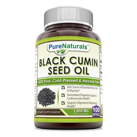 Pure Naturals Black Cumin Seed Oil 1000 Mg 100 Softgels