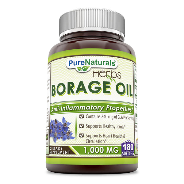 Pure Naturals Borage Oil 1000 mg 180 Softgels
