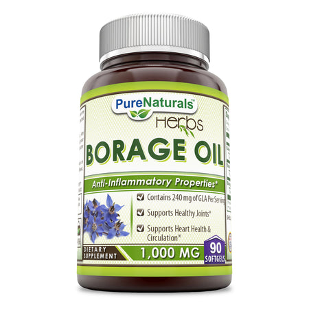 Pure Naturals Borage Oil 1000 Mg 90 Softgels