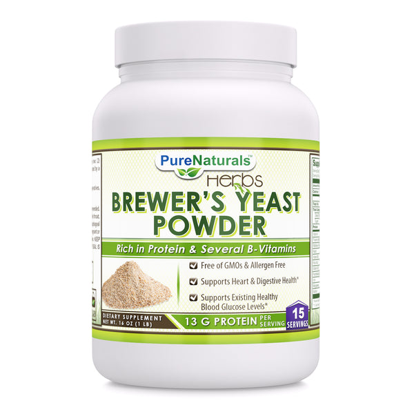 Pure Naturals Brewer's Yeast Powder 16 Oz