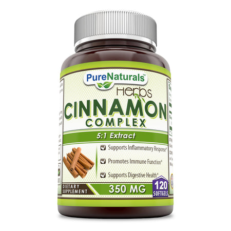 Pure Naturals Cinnamon Complex 350 Mg, 120 Softgels- Supports Inflammatory Response -Promotes Immune Function -Supports Digestive Health