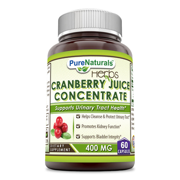 Pure Naturals Cranberry Juice Concentrate 400 Mg 60 Capsules