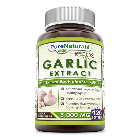 Pure Naturals Garlic Extract 5000 Mg 120 Softgels