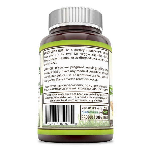 Pure Naturals Ginger Root Supplement 550 Mg 250 Capsules