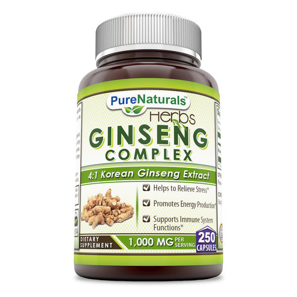 Pure Naturals Ginseng Complex 1000 Mg 250 capsules