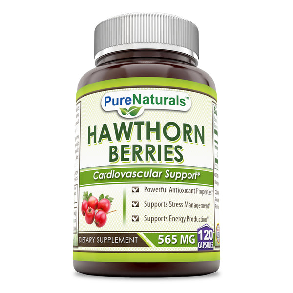 Pure Naturals Hawthorn Berries 565 Mg 120 Capsules