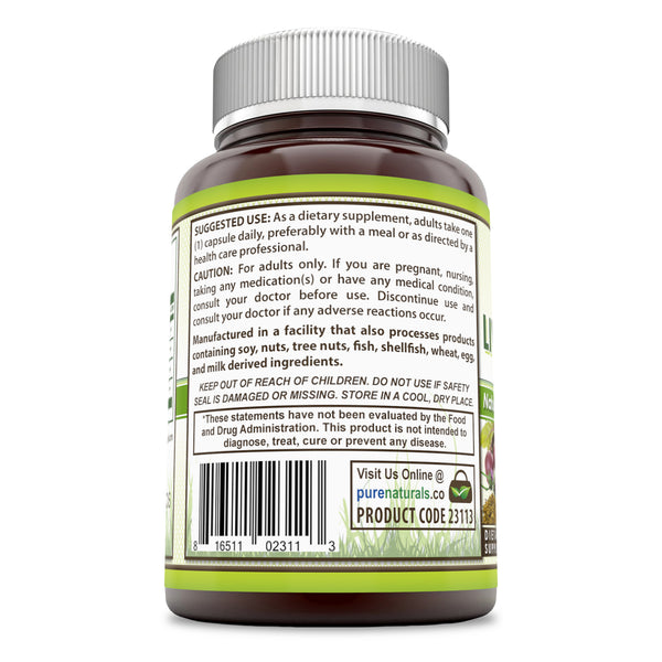 Pure Naturals Liver Support 372.340 Mg 120 Capsules, Support Liver Functions, Promotes Detoxification of Liver, Potent Antioxidant Properties