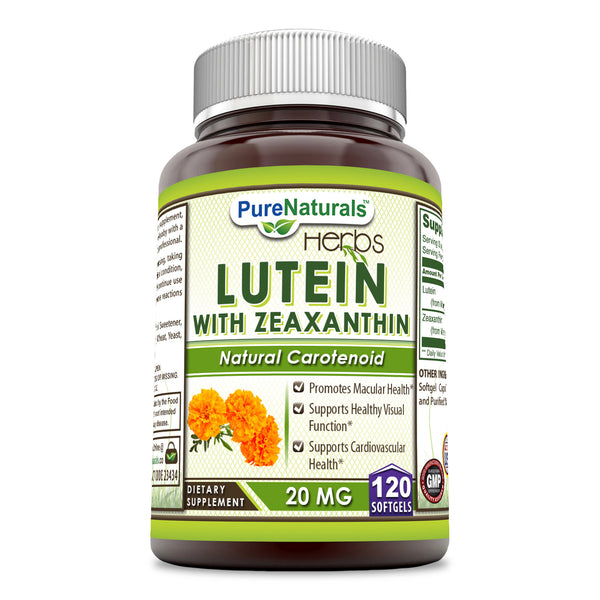 Pure Naturals Lutein 20 Mg 120 Softgels