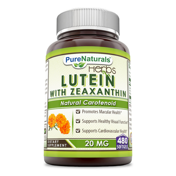 Pure Naturals Lutein 20 Mg 480 Softgels