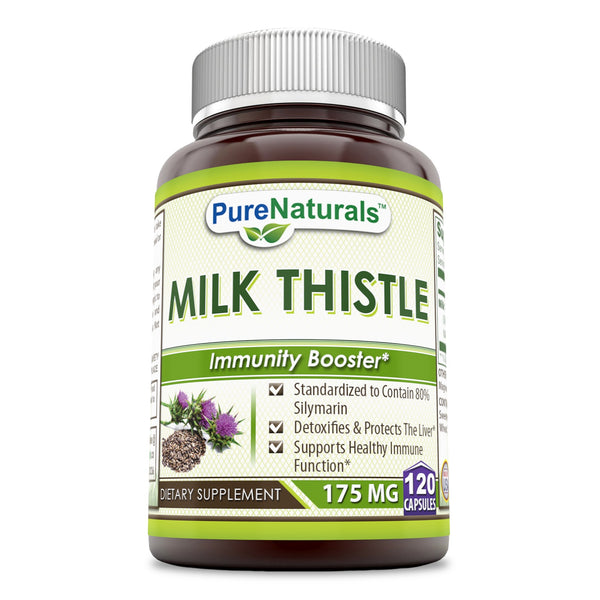 Pure Naturals Milk Thistle 175 Mg 120 Capsules