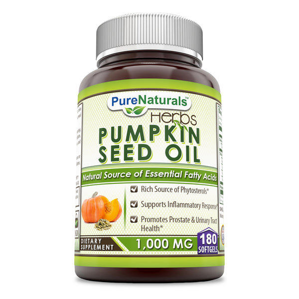 Pure Naturals Pumpkin Seed Oil 1000 Mg 180 Softgels