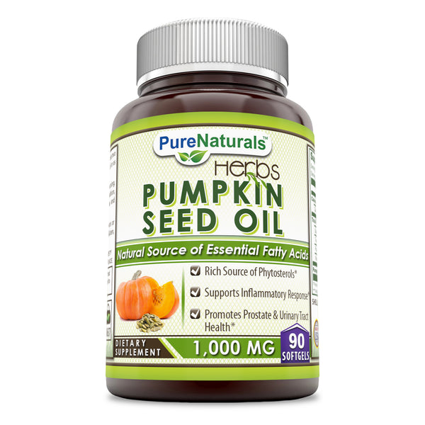 Pure Naturals Pumpkin Seed Oil 1000 Mg 90 Softgels