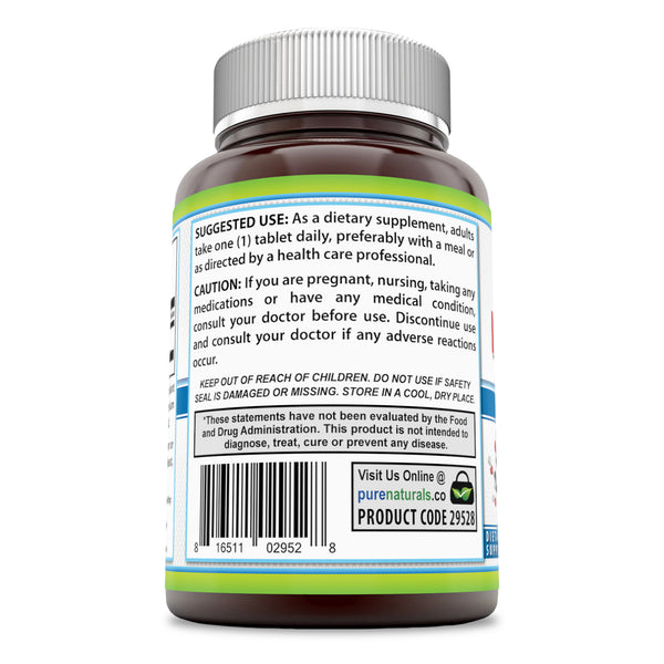 Pure Naturals Inositol 1000 Mg 120 Tablets