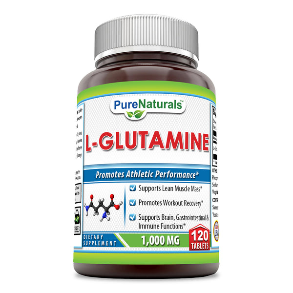 Pure Naturals L-Glutamine 1000 Mg 120 Tablets