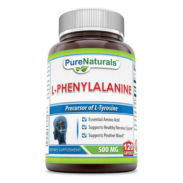 Pure Naturals L Phenylalanine Dietary Supplement 500 Mg 120 Capsules