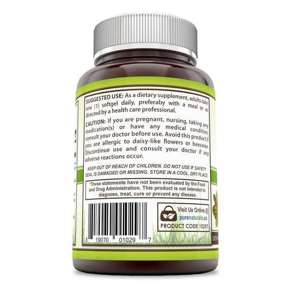 Pure Naturals Lutein 20 Mg 240 Softgels