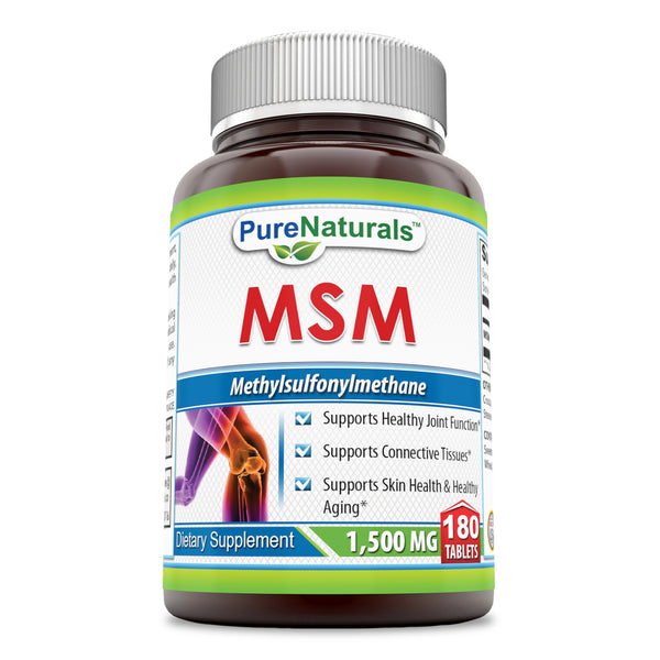 Pure Naturals MSM 1500 Mg 180 Tablets