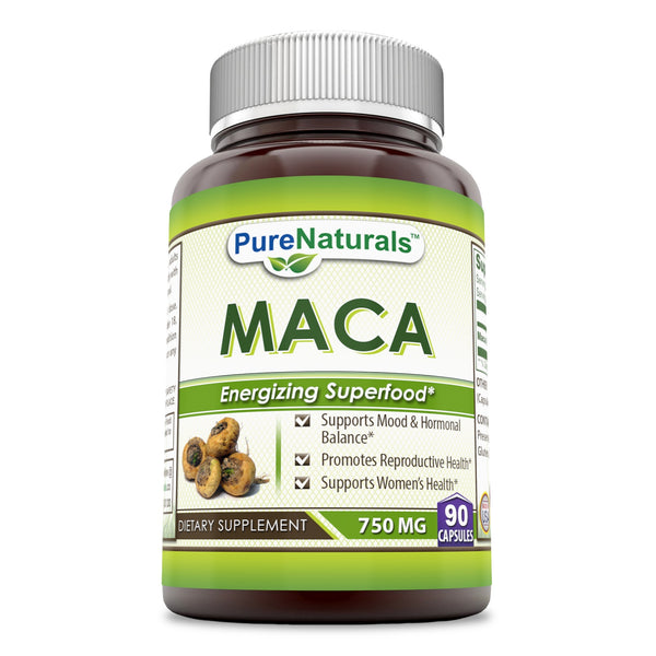 Pure Naturals Maca 6:1 Extract 750 Mg 90 Capsules