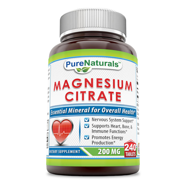 Pure Naturals Magnesium Citrate 200 Mg 240 Tablets
