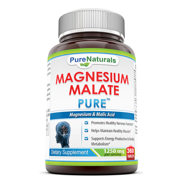 Pure Naturals Magnesium Malate 1250 Mg 360 Tablets