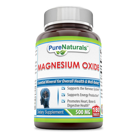 Pure Naturals Magnesium Oxide 500 Mg 180 Tablets