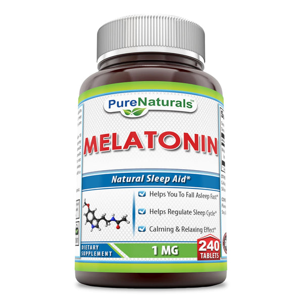 Pure Naturals Melatonin Dietary Supplement 1 Mg 240 Tablets