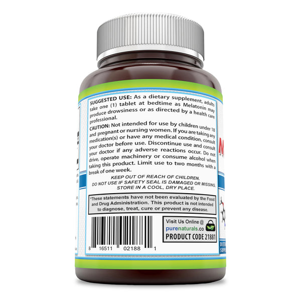 Pure Naturals Melatonin 1 Mg 240 Tablets