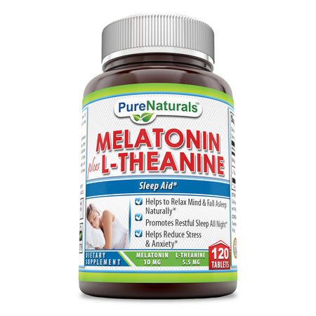 Pure Naturals Melatonin L-Theanine 120 Tablets