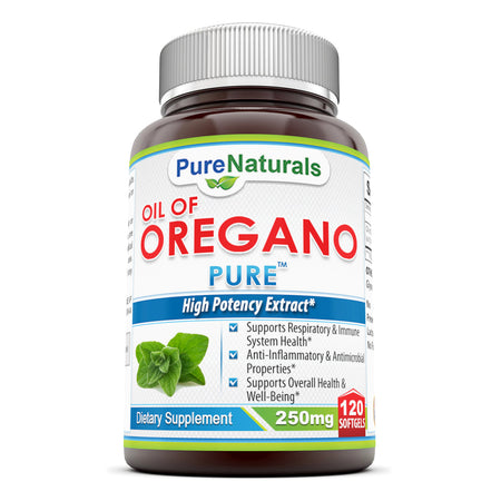 Pure Naturals Oil Of Oregano 250 MG 120 Softgels
